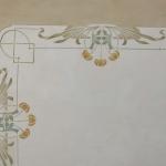 Soffitto dipinto con fregio Liberty