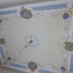 Soffitto Dipinto con Decorazione Liberty
