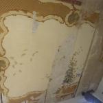 Restauro di Soffitto Decorato a Tempera - Prima