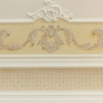 Soffitto Dipinto con Stucchi a Trompe-l'oeil
